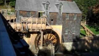 Download Water Powered Sawmill with Wooden Gears at Kings Landing Video