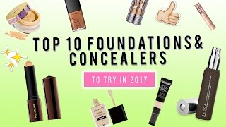 Download TOP 10 Foundations & Concealers to try in 2017! | KristenLeanneStyle Video