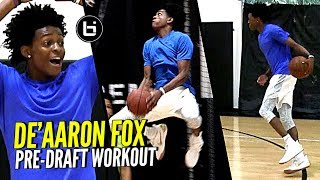 Download De'Aaron Fox NBA Draft Workout Session! Quickest Player In The NBA Draft?? Video