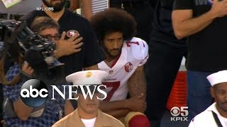 Download Colin Kaepernick Takes a Knee for National Anthem Video