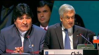 Download El cruce de palabras entre Piñera y Morales en la Celac Video