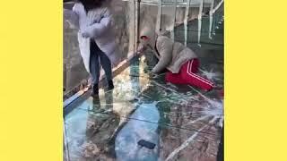 Download Glass bridge in China - cracks effect Video