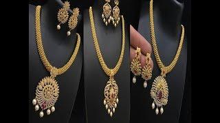 Download Designer Necklace Sets New Model    Traditional necklace designs    indian necklace designs Video