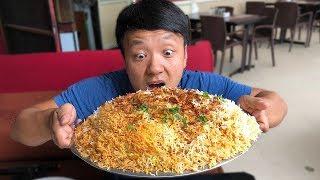 Download MASSIVE BIRYANI (Spicy Rice) & Insane Chicken Kebab in Hyderabad India Video