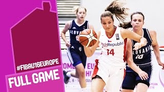 Download Czech Republic v Slovak Republic - Full Game - R 16 - FIBA U16 Women's European Championship 2016 Video