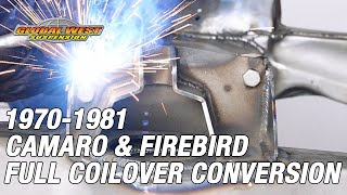 Download How to convert a 1970 - 81 Camaro/Firebird subframe to a full coilover Video