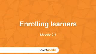 Download Learn Moodle 2015: Enrolling Learners Video