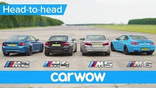 Download BMW M5 v M4 v M2 v M6 DRAG & ROLLING RACE | Head-to-Head Video