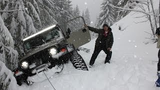 Download Deep Snow Wheeling Jeep Wrangler Oregon Cascades Extreme 4x4 Video