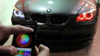 Download BMW color changing angel eyes, headlights Video