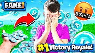 Download TROLLING MY LITTLE BROTHER w/ FAKE V-BUCKS! Fortnite: Battle Royale Gameplay Video