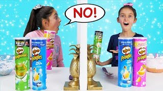 Download Twin Telepathy 3 Colors of Glue PRINGLES SLIME Challenge!!!! Video