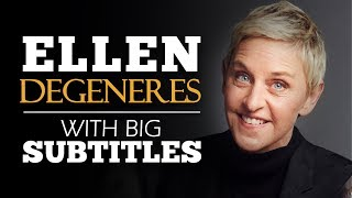 Download ENGLISH SPEECH | ELLEN DEGENERES: Be True To Yourself (English Subtitles) Video