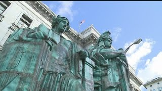 Download Restored statue placed on top of Mahoning County Court Video