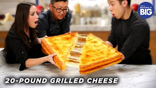 Download I Made A Giant 20-Pound Grilled Cheese For HellthyJunkFood • Tasty Video