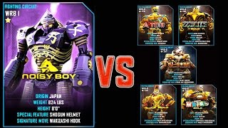 Download Real Steel WRB FINAL Noisy Boy VS ALL GOLD ROBOTS Series of fights NEW ROBOT (Живая Сталь) Video