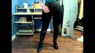 Download My foam hip/butt pads paired with black leggings and boots for female impersonation! Video