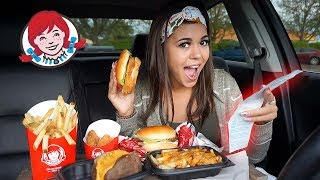 Download Letting The Person in FRONT of Me DECIDE What I Eat at Wendys Video