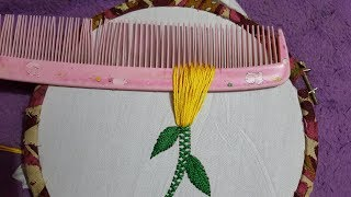 Download Hand Embroidery New Trick Flower Embroidery Design for hand work stitch Video