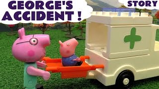 Download Peppa Pig George Accident Thomas and Friends Play Doh Construction Set Toys & Ambulance Video