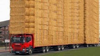 Download World Amazing Hay Bale Handling Modern Agriculture Equipment Mega Machines Tractor, Harvester, Truck Video
