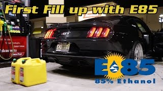 Download Filling up with E85! Corn Fed 2015 Mustang GT Video