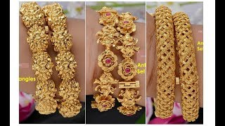 Download New Collections of Gold Bangles || Antique Bangle Designs || Bridal Bangles Video