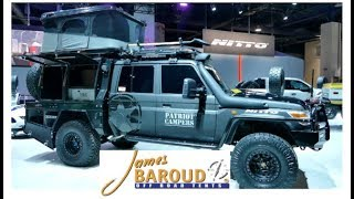 Download 10 second lightning fast setup rooftop tent by James Baroud :SEMA 2017 Video