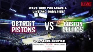 Download NBA Live Detroit Pistons vs Boston Celtics HD Celtics Vs Pistons 2016 Full Game Live SCORE Video