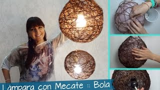 Download Chuladas Creativas :: Lamparas Rústicas con Mecates :: Sammily Manualidades Video