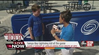 Download Laura Harris Interviews the Lightning Kid Video