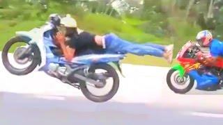 Download HIGHWAY TO HELL moped superman race - Kawasaki Ninja vs LC135 vs 125 catalyzer Yamaha Video