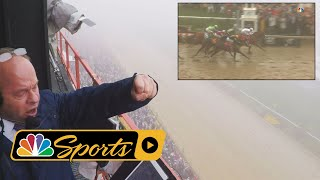 Download 2018 Preakness Stakes: Watch Larry Collmus' call through the fog as Justify wins I NBC Sports Video