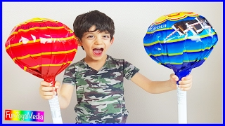 Download GIANT CHUPA CHUPS LOLLIPOPS Kids Candy Review | Learn Numbers with Lollipops Video