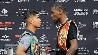 Download ROBERT EASTER JR TOWERS OVER MIKEY GARCIA IN FACE OFF DURING KICK OFF PRESS CONFERENCE Video