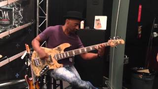 Download Marcus Miller trying out the Mayones Jabba 5 Custom Shop Buckeye Burl Video