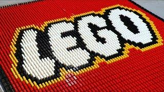 Download 73,000 LEGO Bricks of Dominoes! Video