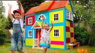 Download DIY 2 этажный ДОМ 4 комнатный для детей и РУМ ТУР или Pretend Play in DIY Playhouse for children Video