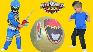 Download Power Rangers Dino Charge Super Giant Toys Surprise Egg Opening Ckn Toys Video