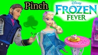 Download Queen Elsa Hans Pinch Princess Anna Frozen Fever Disney Dolls Kristoff St Patricks Holiday Playing Video