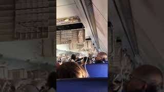 Download Jet with engine, window damage makes emergency landing Video