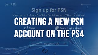Download Creating a New PlayStation Network (PSN / SEN) Account on the PS4 Video