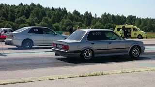 Download 2JZ Lexus IS200 vs BMW E30 325ix Turbo 1/4mile drag race Video