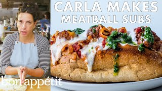 Download Carla Makes Meatball Subs | From the Test Kitchen | Bon Appétit Video