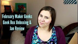 Download February MakerGeeks Geek Box Unboxing Video