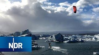 Download Island: Kitesurfen durch die Gletscher | 360 Grad | NDR Doku Video