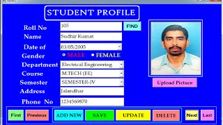 Download Create Save Update Delete and Search Student Profile Using Visual Basic/Ms Access-Step by Step Video