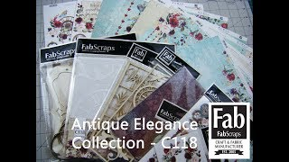Download FabScraps Overview 'Whats in the box': Fab-Box Antique Elegance Collection C118 Video