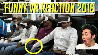 Download FUNNY VIRTUAL REALITY VR FAIL/REACTIONS #2 COMPILATIONS FUNNY VR REACTIONS 2018!! Video
