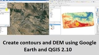 Download Create contours and DEM using Google Earth and QGIS 2.10 Video